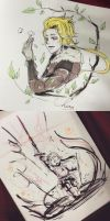 Inktober 2015 Week 1 Compilation by jheaa