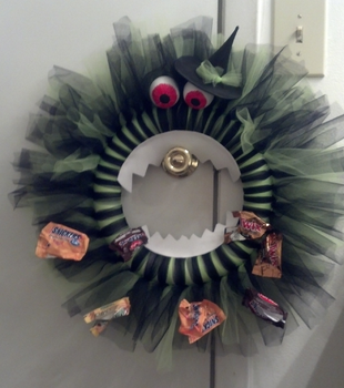 Monster wreath by CrowsintheNight