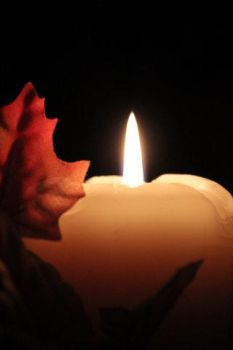 Candle with Leaves I by LordoftheRingsGirl98