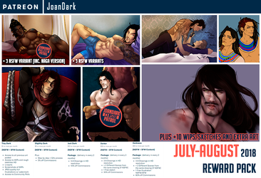 July-August Reward Pack Patreon by JoanDark
