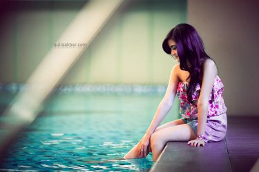 Playing at the Pool by paten