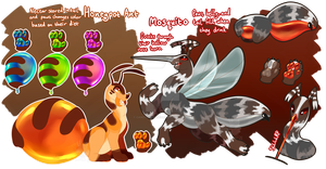 [CLOSED] Honeypot Ant / Mosquito Chimereons by CandyChameleon
