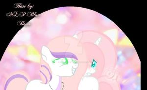 Feather Hooves and Bailey by zombiegoddess666