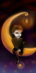 Sky on the moon XD by painted-ishi