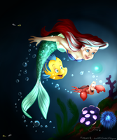 Under The Sea - Disney Coloring Page Challenge by Fayolka