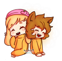 || Two Cuties || ( AT ) by JuneArtCraft19