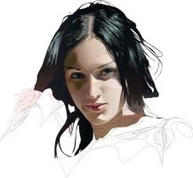Face of Muse WIP by GraphicDream
