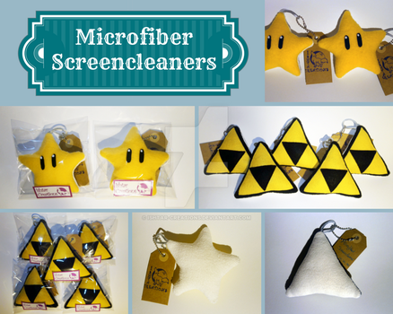 Microfiber Screencleaners by Ishtar-Creations