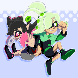 [COMMISSION] CELL AND MERCURY by EvilSonic2