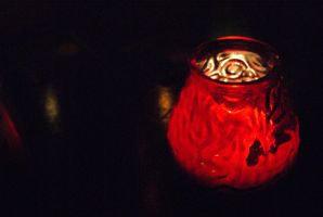 Red Candle Pot by wafitz