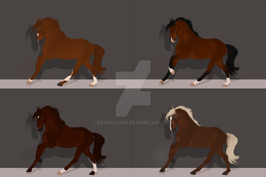 Warmblood Design Commissions by EddieLover