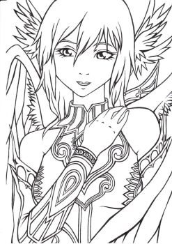 Cleric Lineart by Spudfuzz