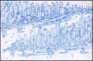 Megapolis Floating City by MeckanicalMind