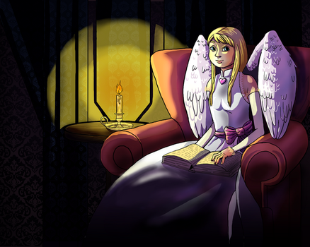 Cupid studying by Takiari-xXXx-Meyrimo