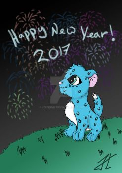 Olly Kitty New Year by Joykins