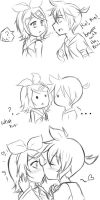 another rin and len kiss :3 by BLEEDFan95