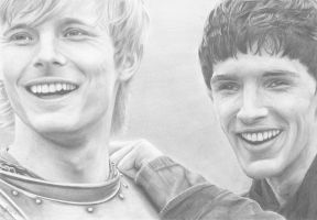 Merlin and Arthur by SophieGraceArt