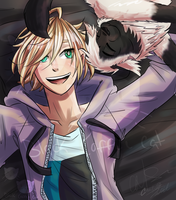 Yurio and Cat Collaboration by Cafe-Crazed-NekoChan