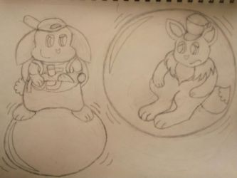 Captured inside a bubble by a bunny! by EeveeProtect