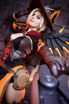 Witch Mercy - Overwatch by Kinpatsu-Cosplay