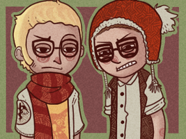 hipster AU by Lil-leopard-gecko