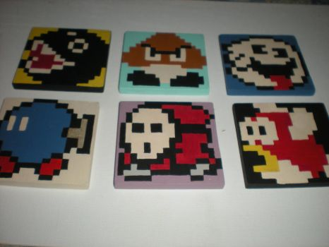 EVIl side of coasters by LikeABadDream915