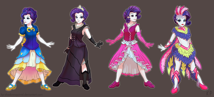 Rarity's Dresses 2 by KP-ShadowSquirrel