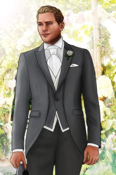 Commander Cullen modern AU groom by Shizuru117