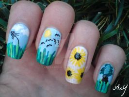 Nature Nail Design by AnyRainbow