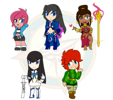 Assorted Chibis - Mostly OCs with a Satsuki by Dragon-FangX