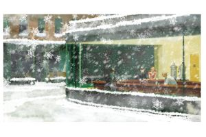 Christmas Nighthawks by SixPixeldesign