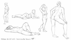 25 November 2015 figure drawing session by rattree