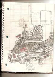 Me working on the ecto-1 by GBAxel