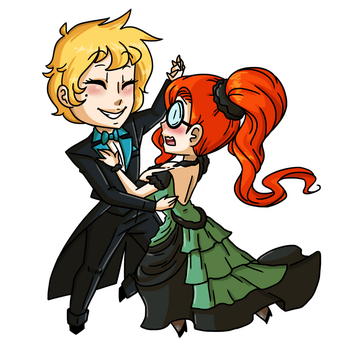 Chibi Commission by MTC: Let's Dance by BlueHecate