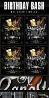 Gangster Style Birthday Invitation Template by AnotherBcreation