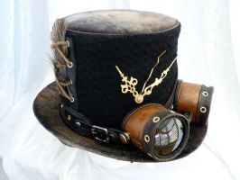 Steam punk hat with goggles. by Serata