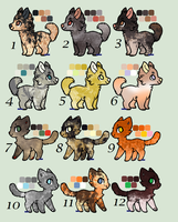 !!!CLOSED FREE!!! Chibi Dog and Cat Adoptables by KittyAdopts63
