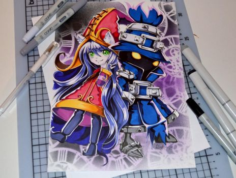 Lulu and Veigar by Lighane