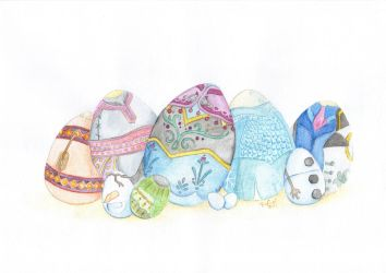 Frozen Easter Eggs by xerrife