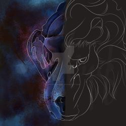 Digital - Two Faced Lion by Gabrielsknife