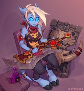 Draecember 28th - Doing chores by Zeon-in-a-tree