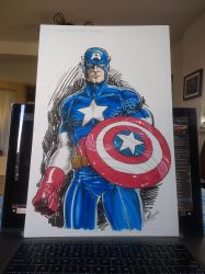 Captain America commission by theEvilTwin