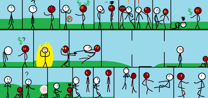 Stick Fight by AnimeLovingGirl1209