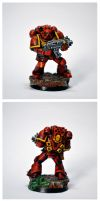 Blood Angel Space Marine by razzminis