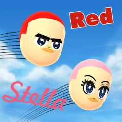 Miifoto | Angry Birds | Red  Stella in Mii Style by GoldRaibowMario2
