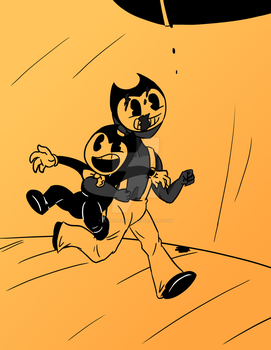 Bendy and Sammy by Blustreakgirl