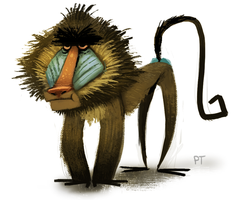 DAY 429. Mandrill by Cryptid-Creations