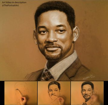 Will Smith on Toned Paper with Pastel by theportraitart