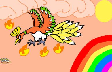 Ho-oh Pokemon HeartGold by kirbysuperstar97