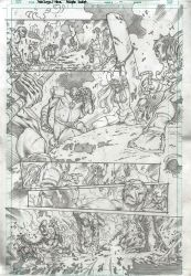 RED SONJA and THOR test page 1 by PowRodrix